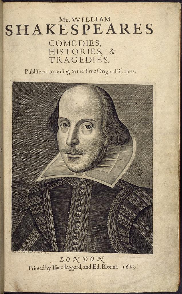First Folio. Mr. William Shakespeares Comedies - caption: 'William Shakespeare'