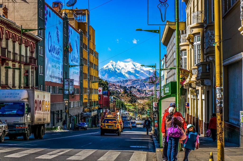 Streets of La Paz,Bolivia